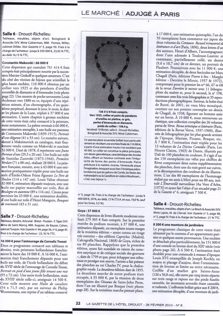 article gazette Drouot Fev2010