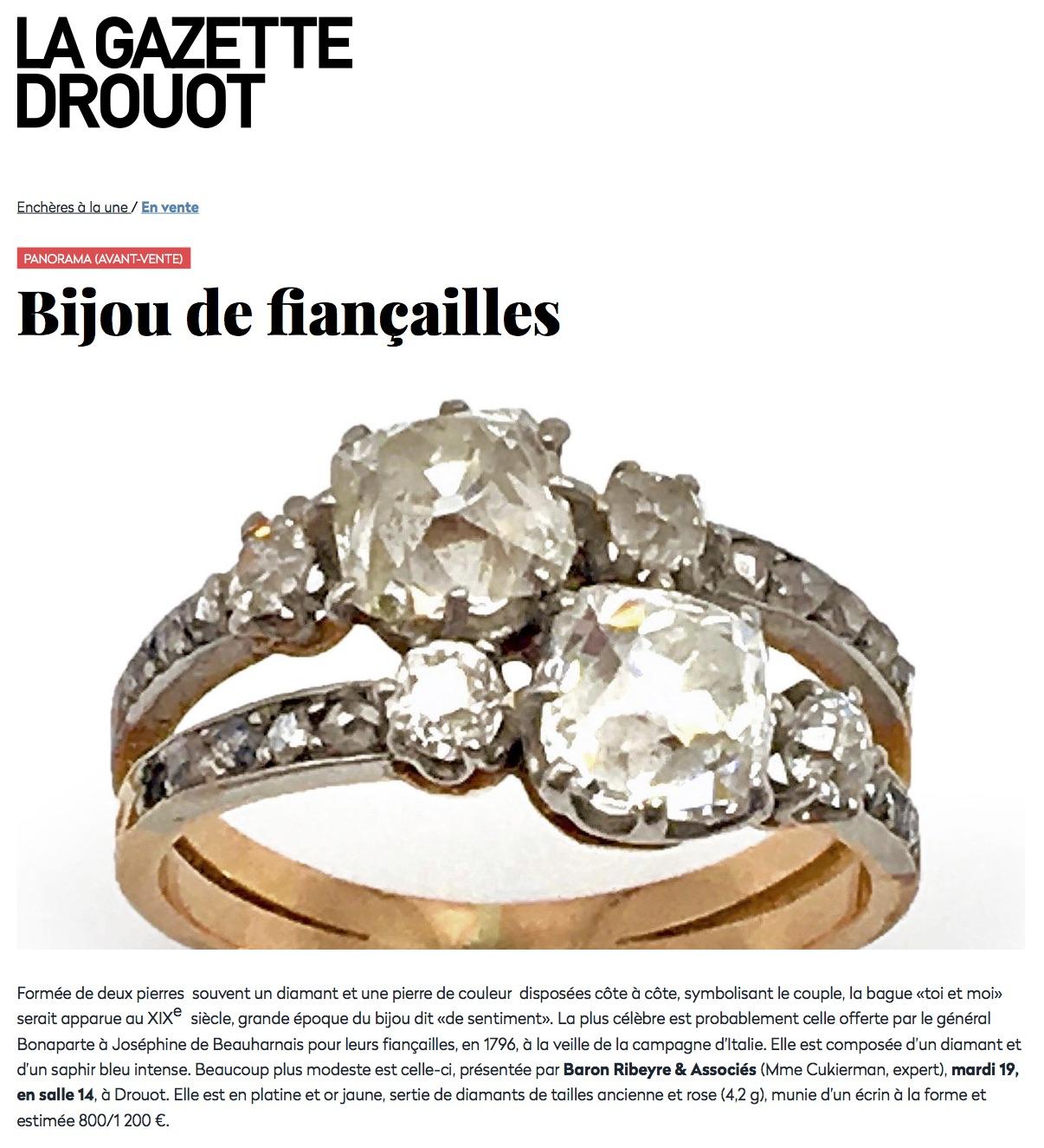 Avant-vente - Bijou de fiançailles Expert Cukierman vente aux encheres jewellery and watches
