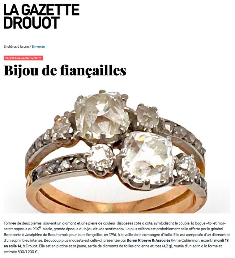 Avant-vente - Bijou de fiançailles