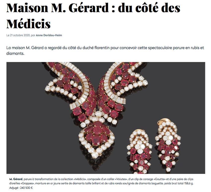 M.Gerard du cote de Medicis expert Cukierman