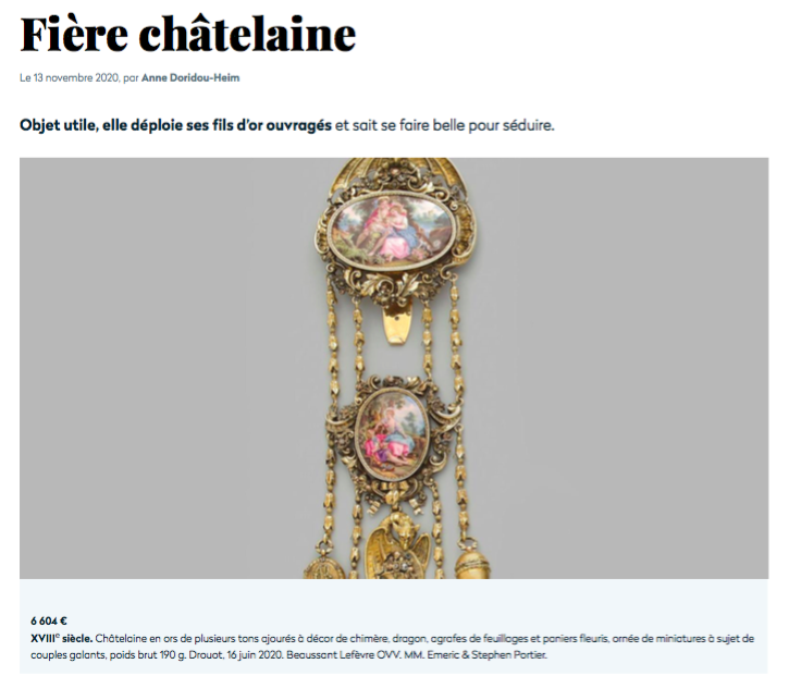 fiere-chatelaine-expert-cukierman article gazette Drouot