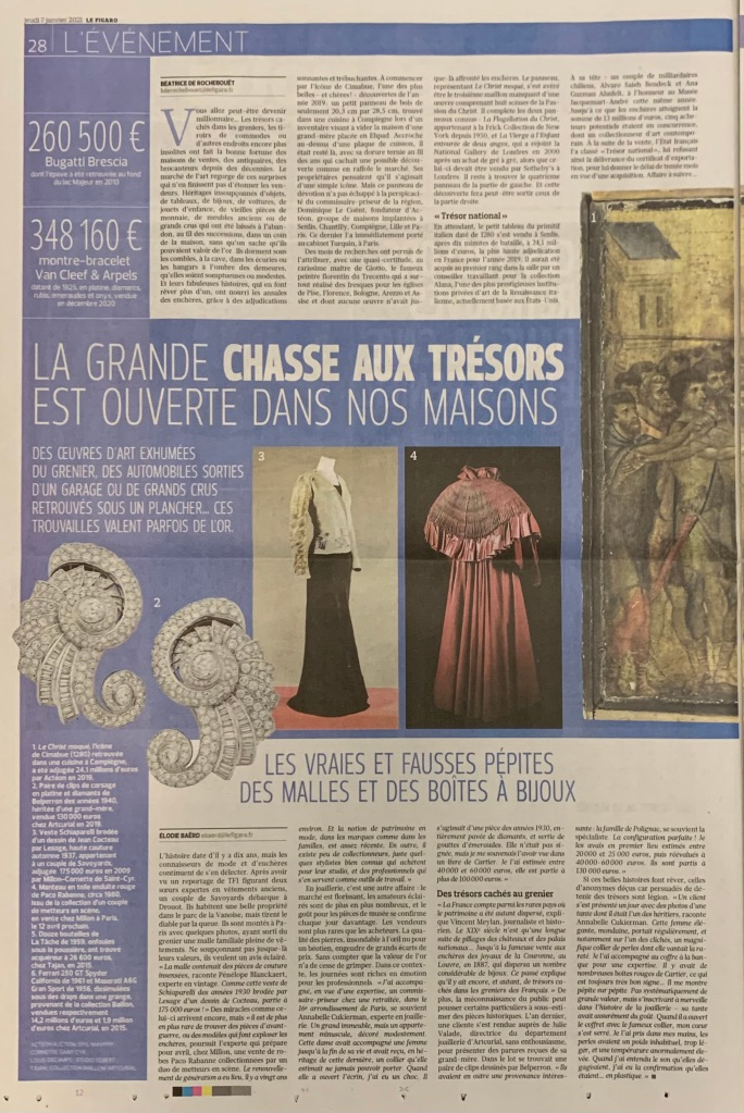 le figaro encheres record jewellery expert cukierman