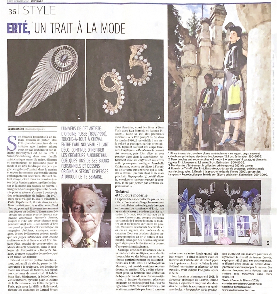 le figaro article erte expert cukierman #article #lefigaro #erte #expert #cukierman #auction